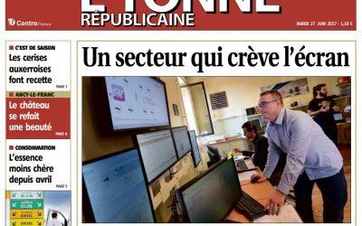 [Presse] Un secteur qui crève l'écran – Yonne Republicaine