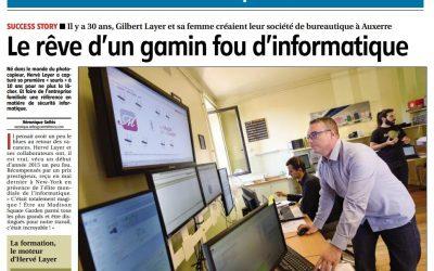 [Presse] Le rêve d'un gamin fou d'informatique – Yonne Républicaine – Oct 2015