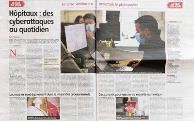 [Presse] Article dans l'Yonne Républicaine sur la cybersécurité dans les hôpitaux